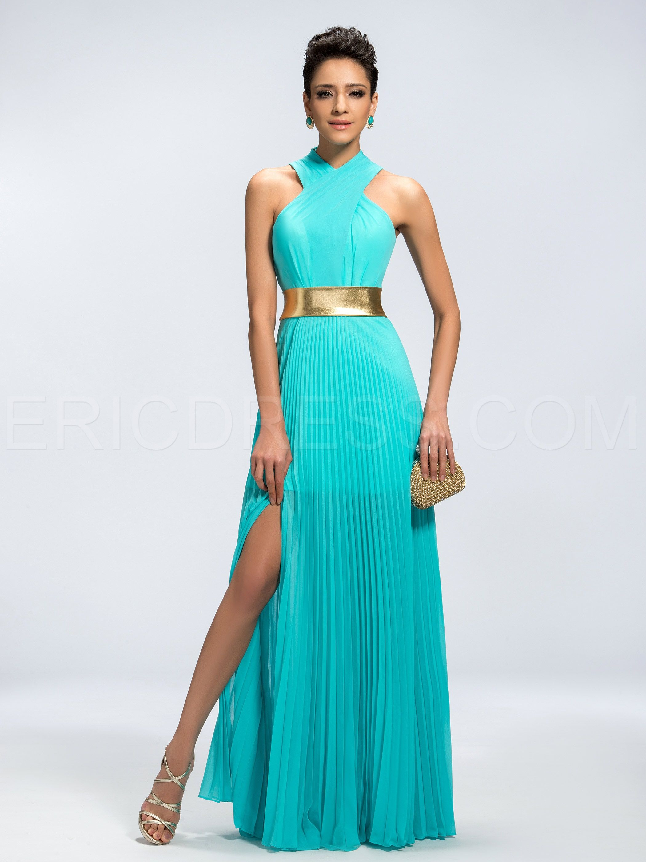 Classy Vogue A-Line Split-Front Evening Dress | Classy, Elegant ...