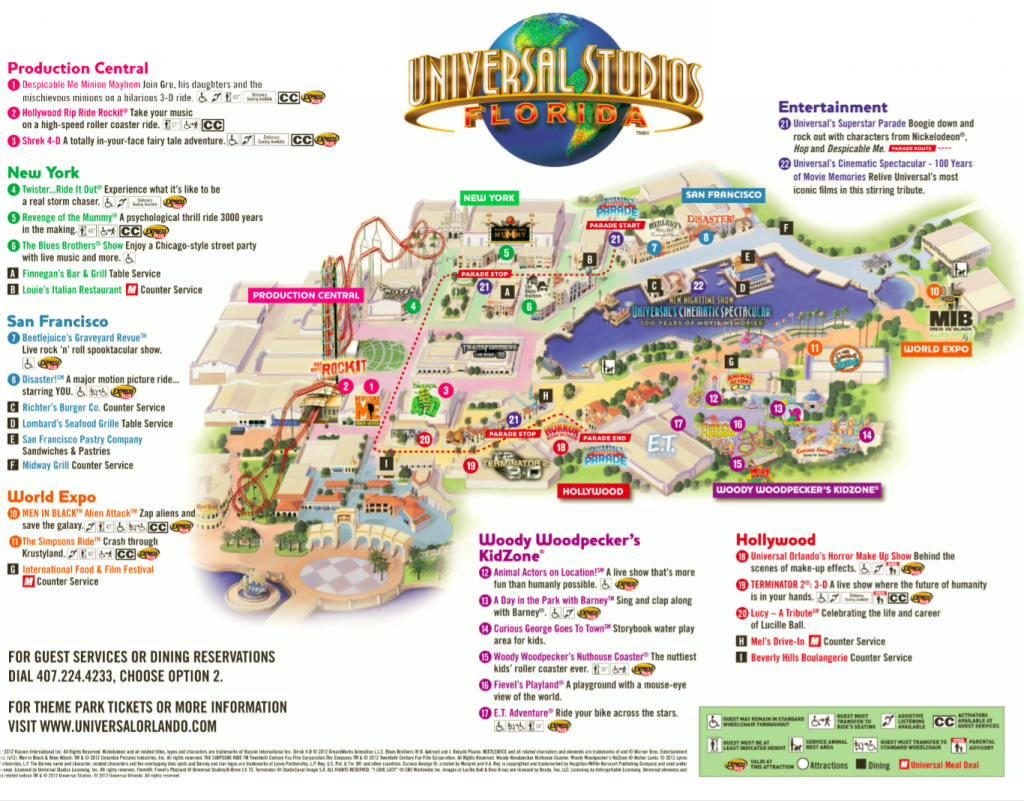 Universal Studios Florida Map.Universal Studios Spring Break Vacation 2015 Universal Studios