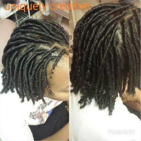 Starter Locs On Long Hair Google Search Hair Natural Hair Styles Messy Bob Hairstyles