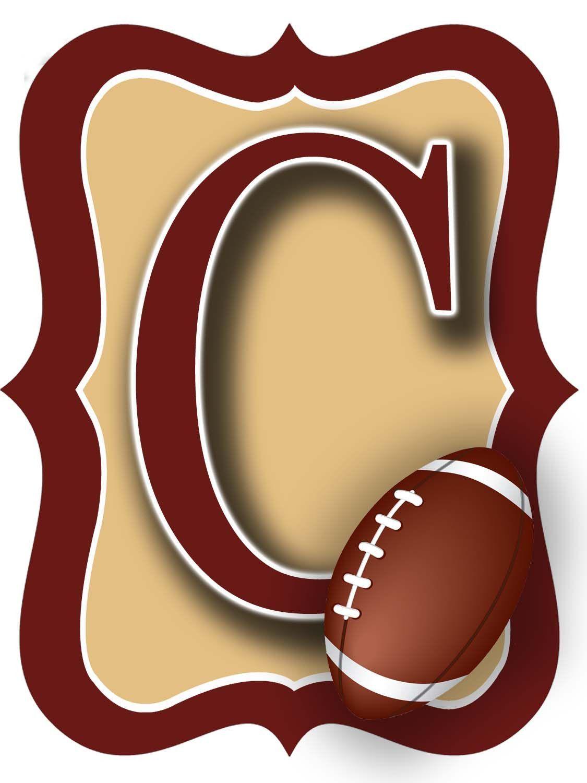 Kleiderbügel clipart  Garnett & Gold Football Door Hanger | American Football und Produkte