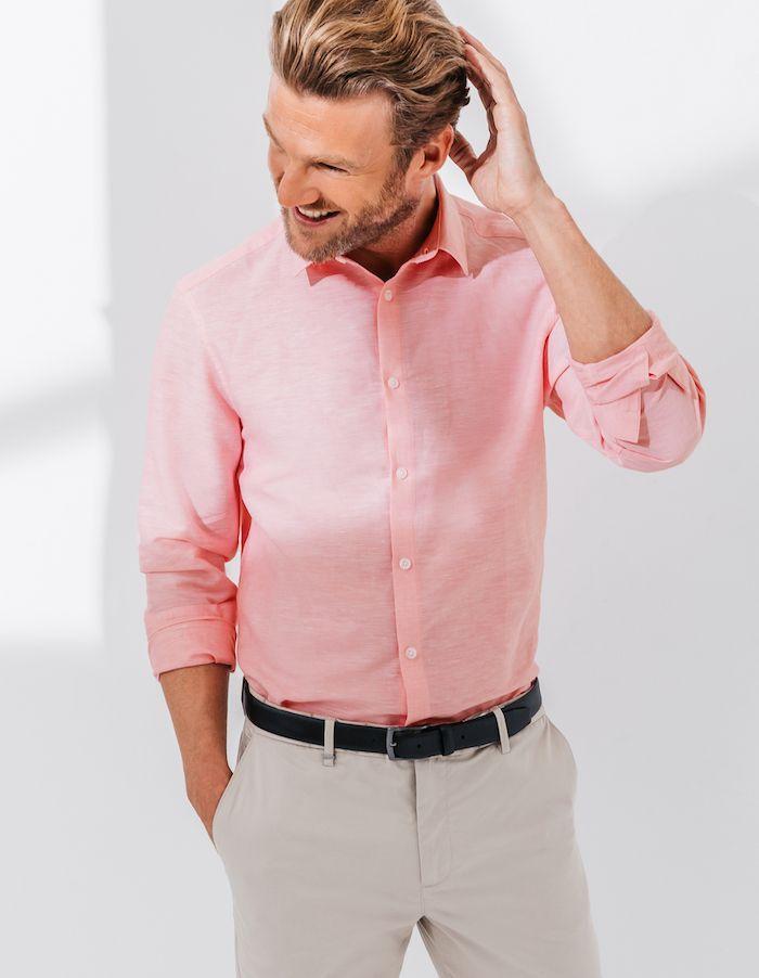 soldes chaussures classiques joli design Chemise rose homme – Pour voir la vie en pink | Mode Homme ...