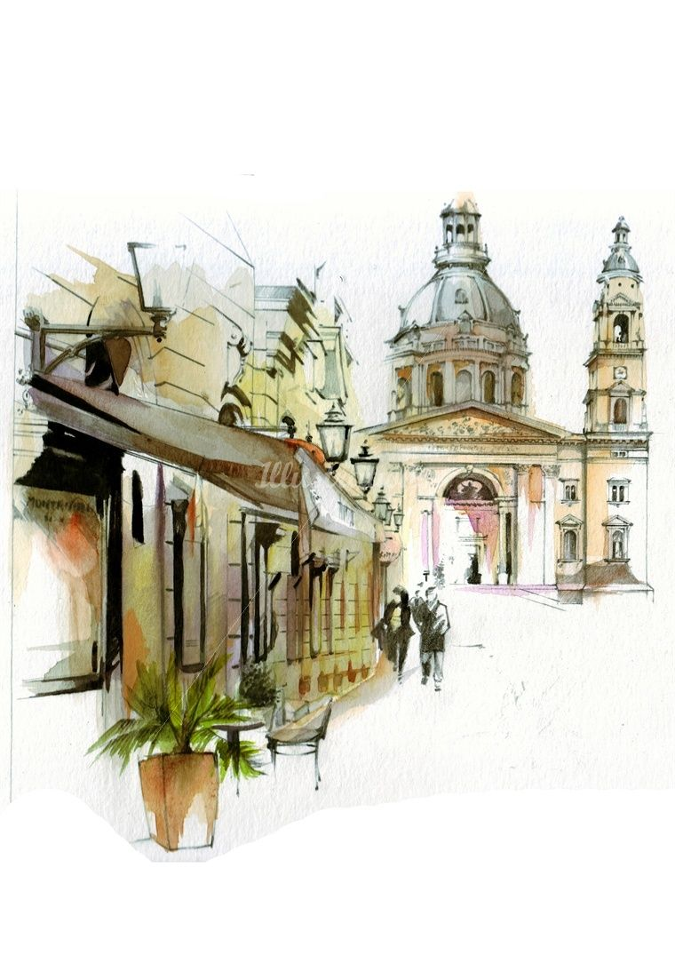 Architecture Drawing Illustrator petra dufkova is an illustrator expert in graphic painting and