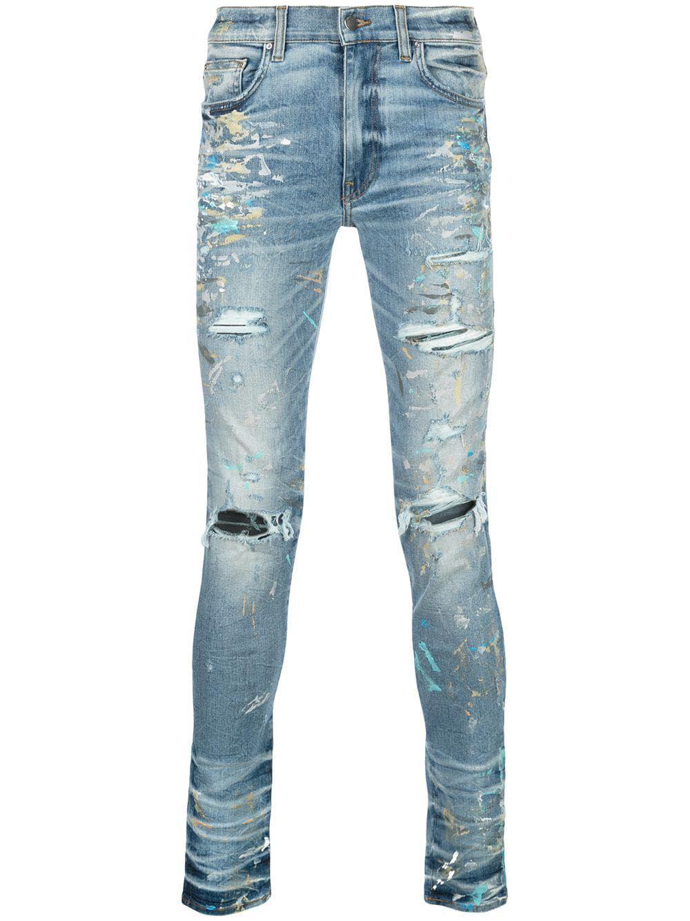AMIRI Paint Splatter Skinny Jeans   Farfetch   Skinny jeans ...