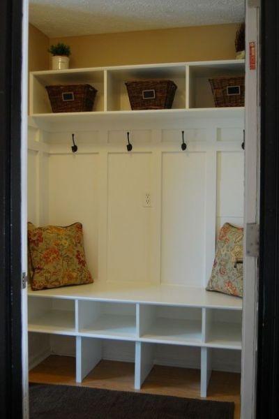 Turn Mudroom Closet Into Storage