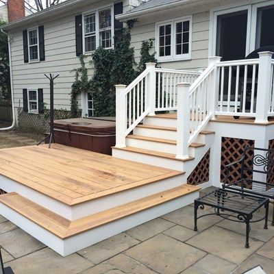 This Was A Neat Project The Customers Old Decking Was Taken Up Replaced With Beautiful Composite Duralife Siesta Small Deck Patio Patio Deck Building A Deck