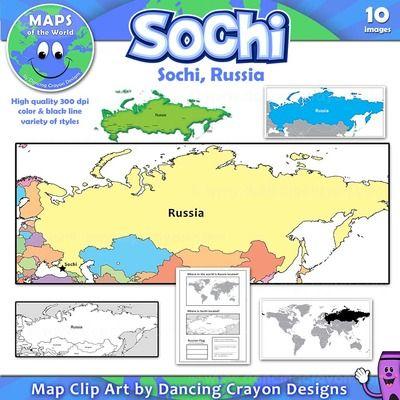 Maps Of Sochi Russia Clip Art Map Set From - Sochi map