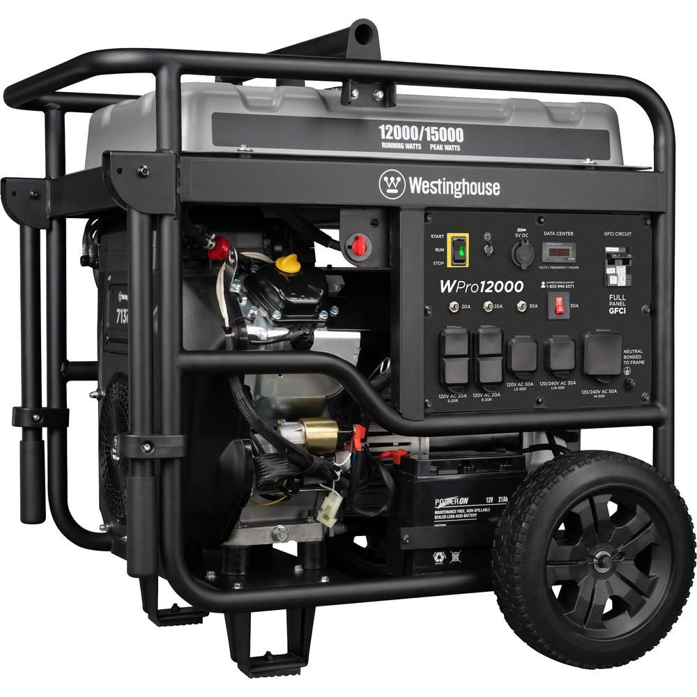 Westinghouse Pro 15 000 12 000 Watt Ultra Duty Gas Powered Portable Industrial Generator With Remote Start And In 2020 Portable Generator Westinghouse Transfer Switch