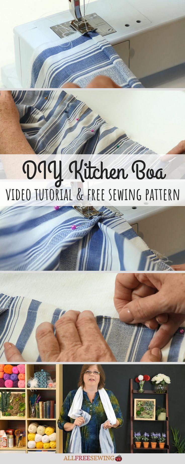 Diy Kitchen Towel Boa Kitchen Fabric Sewing Aprons