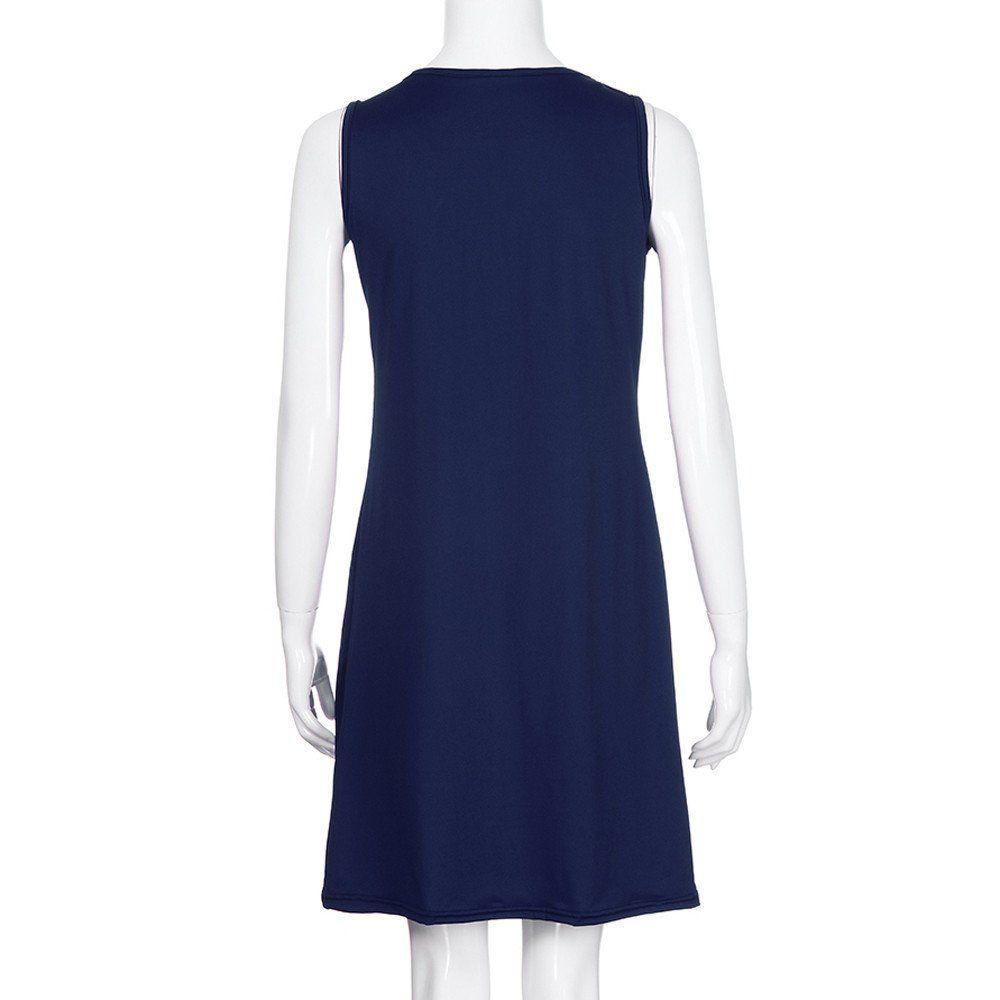 Sales of fashion Women Casual Dress Summer Solid Sleeveless Plain Pleated  Dresses de08eb424