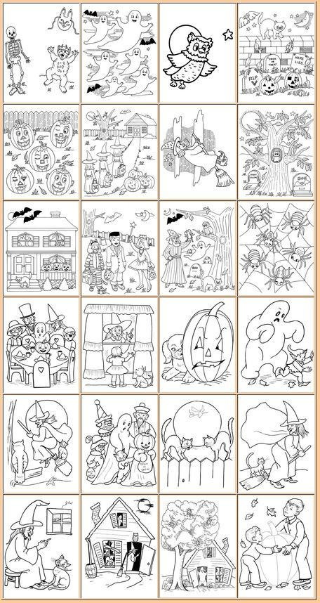 FREE Halloween Coloring Pages   Coloring Pages   Pinterest ...