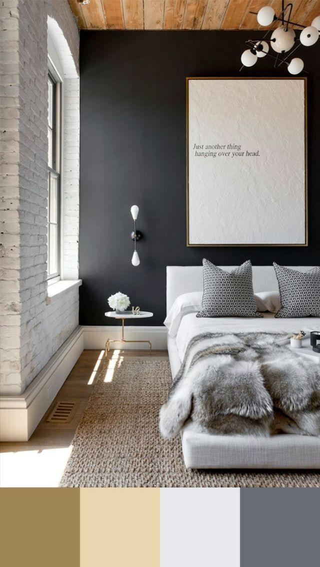 Tendance couleur chambre à coucher unique Bedrooms, Interiors and Room - couleur tendance chambre a coucher