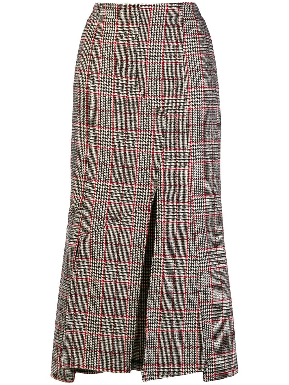 e4a16b367 McQ Alexander McQueen checked print fitted skirt - Black in 2019 ...