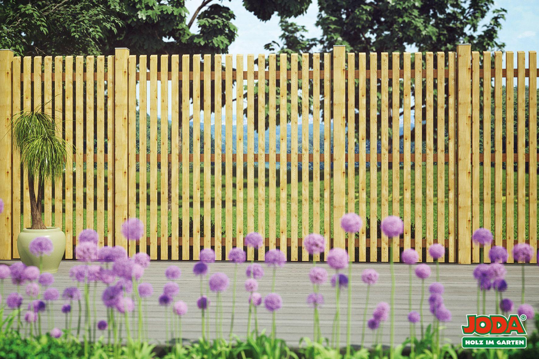 Lattenzaun 180 X 180 Cm Larche Naturbelassen Zaun