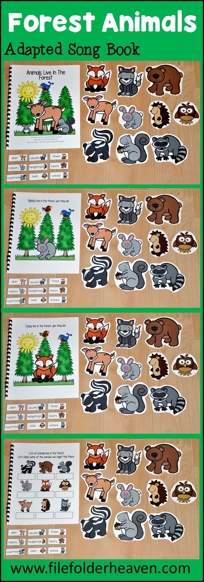 """This Forest Animals Adapted Book, """"Animals Live in the"""