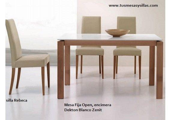Precio y oferta mesa comedor estilo nordico Open con patas en madera ...