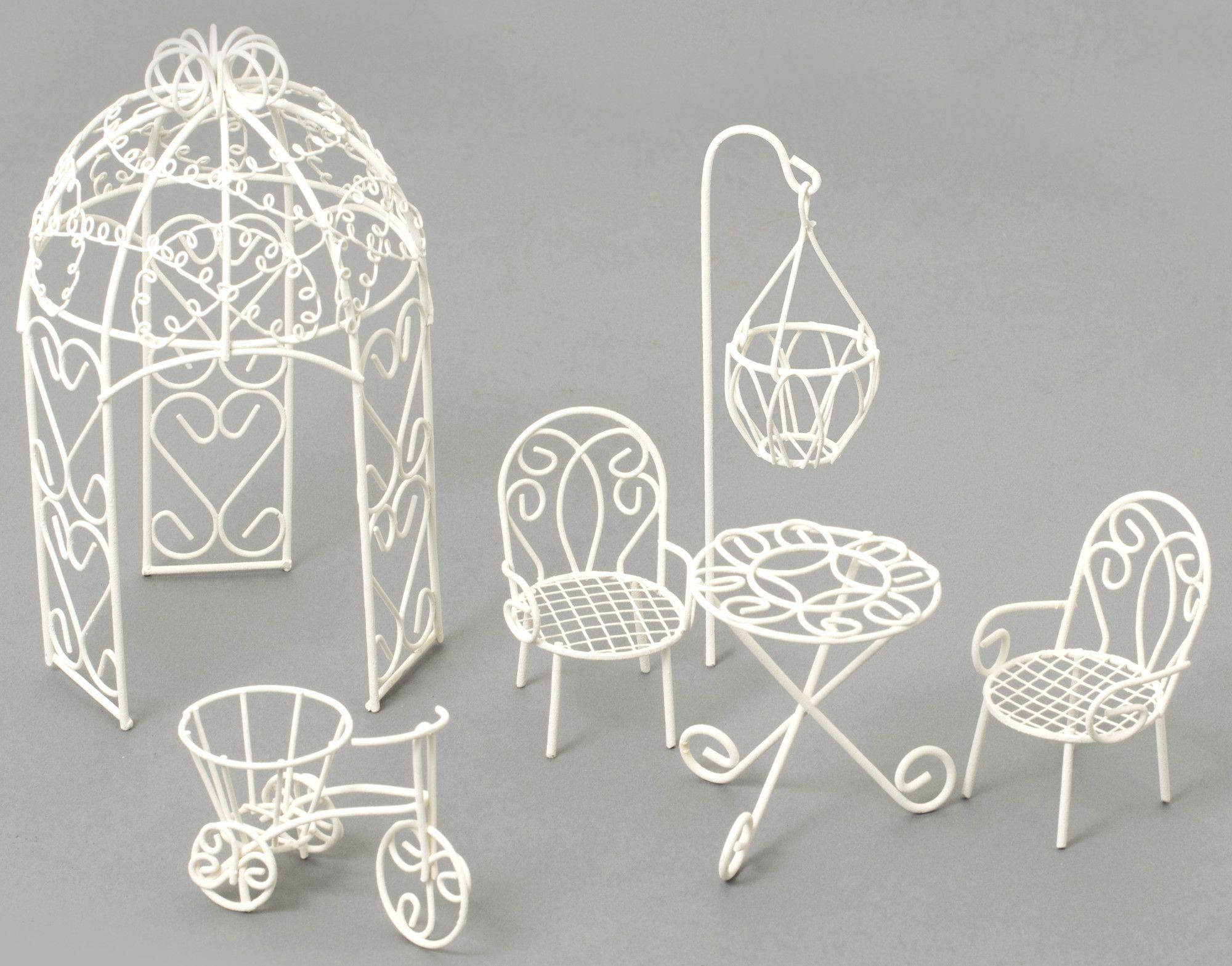 Fairy 6 Piece Garden Furniture Set | Mini jardines, Alambre y Jardín