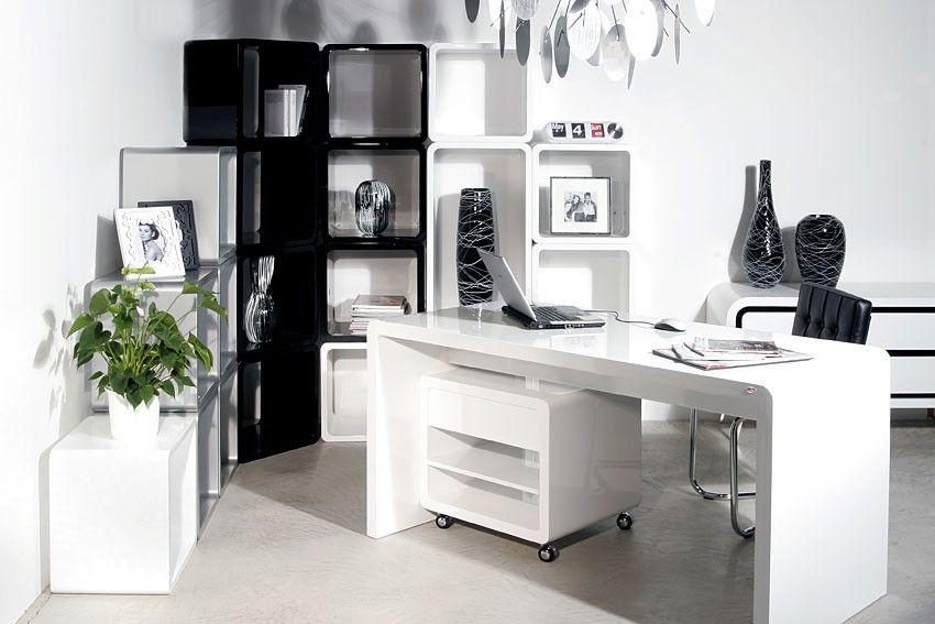 C mo decorar mi oficina con colores blanco y negro para for Decorar mi oficina
