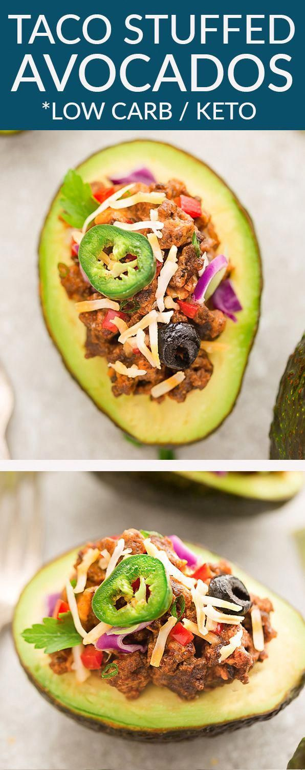 Keto Taco Stuffed Avocado Cups have all the flavors you love about this popular Mexican dish. Serve