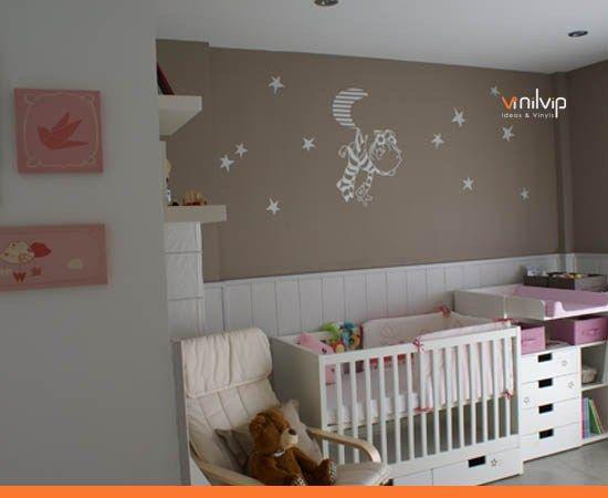 Vinilos habitacion para un bebe ni a decoraci n vinilos for Cuarto de nina rosa palido