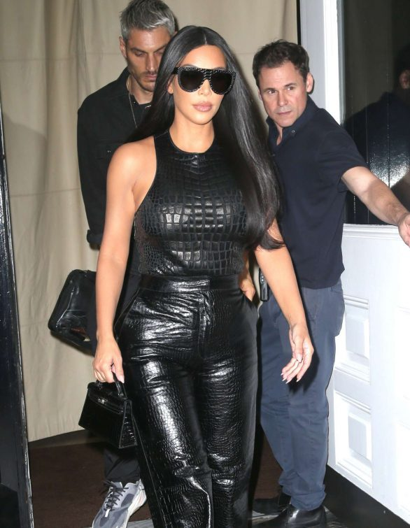 Kim Kardashian in Black Leather Pants 20 | GotCeleb