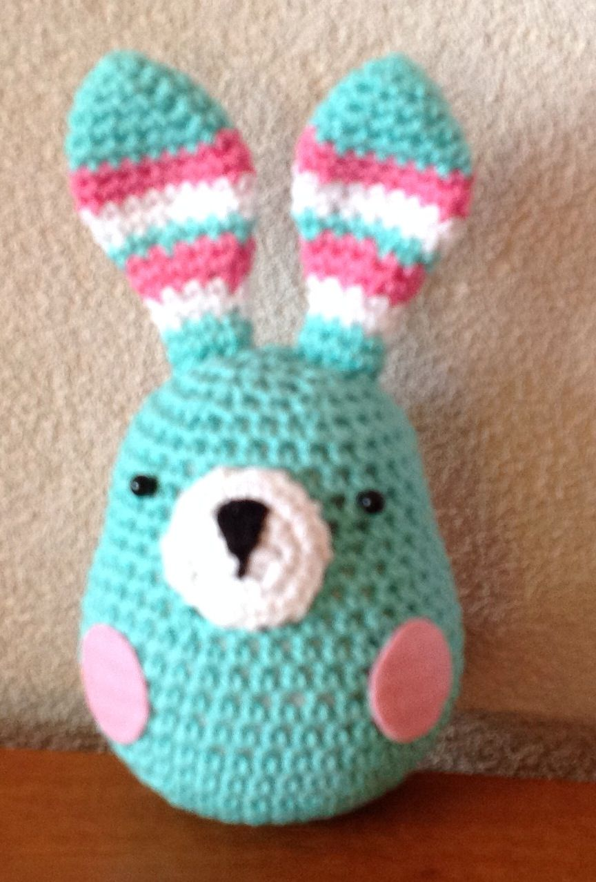 Konijntje pluis gratis patroon stip en haak   crochet toys ...