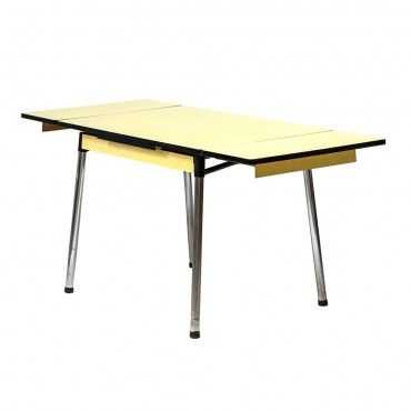 Table En Formica Vintage Annees 60 Jonquille Table Formica Table Mobilier