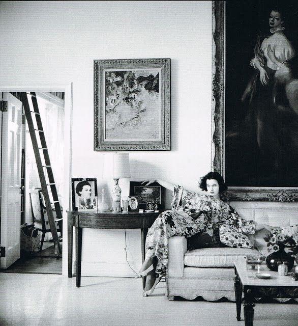 Richard Avedon. Gloria Vanderbilt with her portrait by John Carroll.