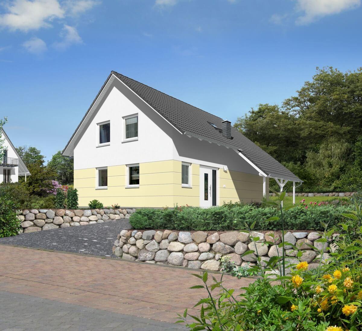 Modernes Satteldach Haus mit Wintergarten Erker & Carport