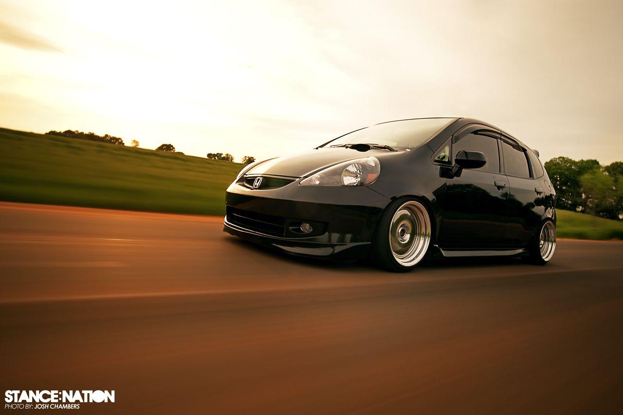Honda fit car sticker design - Black Honda Fit
