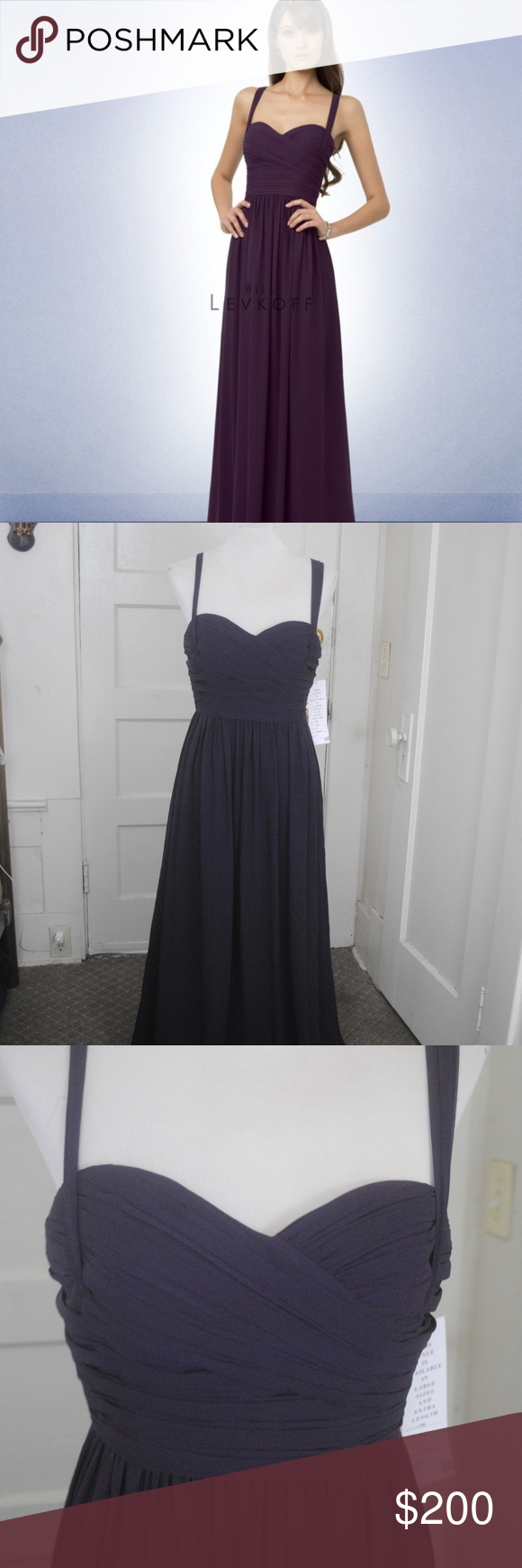 c4cbbb106ee Bill Levkoff Bridesmaid Dress Style 769 Plum 229 Waist 29 Bust 34.5 Length  53 Size 10 Bill Levkoff Dresses Strapless