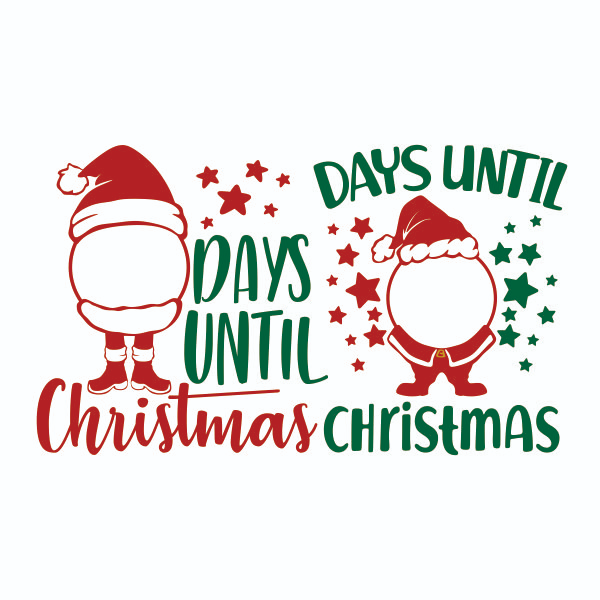 Days Until Christmas Countdown Cuttable Design Christmas