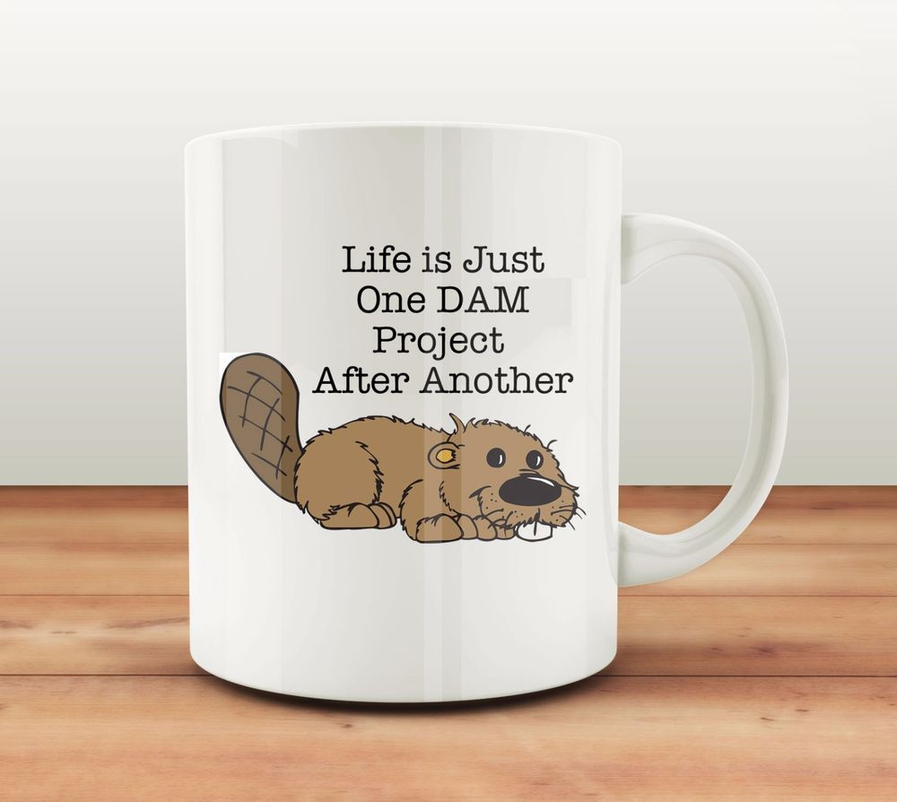 unique coffee mug beaver funny cofee cup free shipping. Black Bedroom Furniture Sets. Home Design Ideas