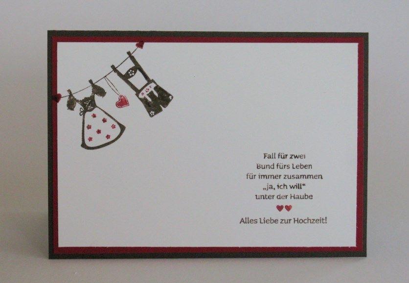 zeit-zum-basteln.de - hochzeitskarte - dirndl & lederhosen, Einladungsentwurf