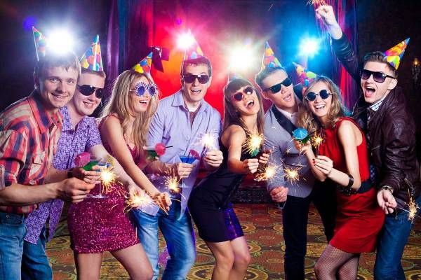 Cute teen guys throw a party