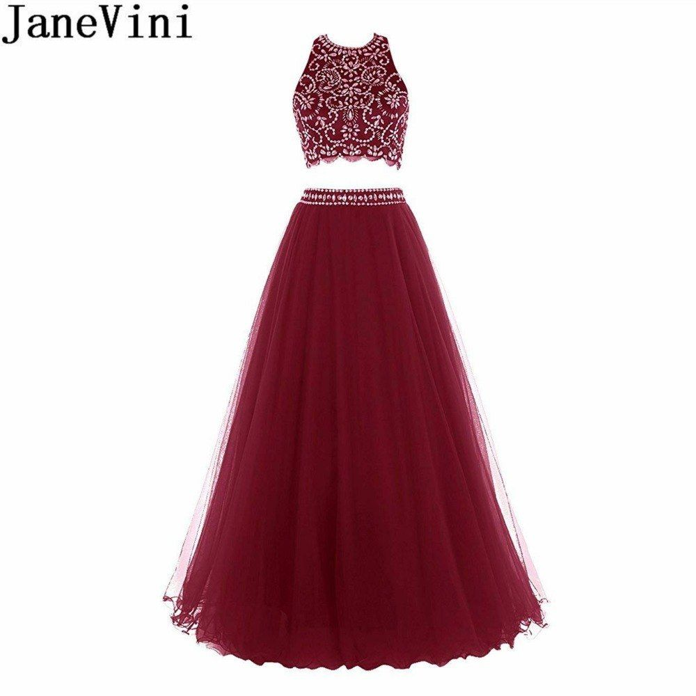 Janevini shiny crystal pieces prom dress long luxury beaded halter