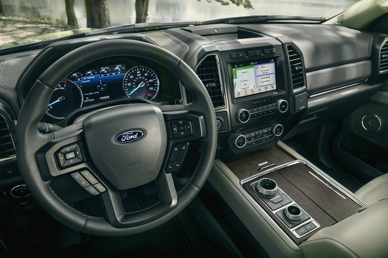 The Instrument Panel And Center Console Inside The 2018 Ford