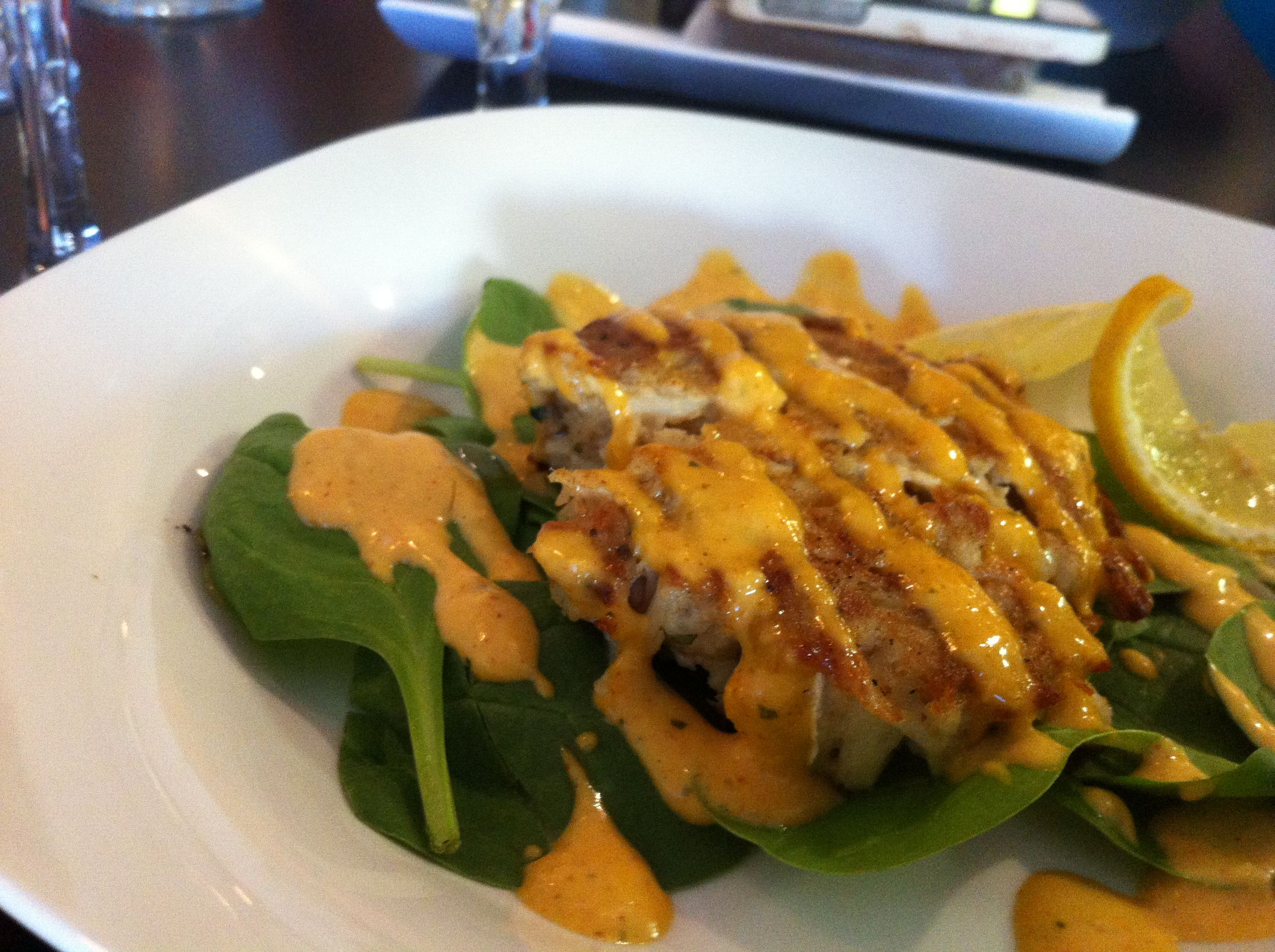 Lovely crab cakes nearzero filler at piccatas http