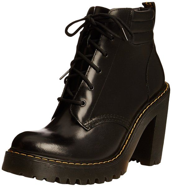 LADIES, HIGH HEEL, Doc Martens shoesboots, black, size 6