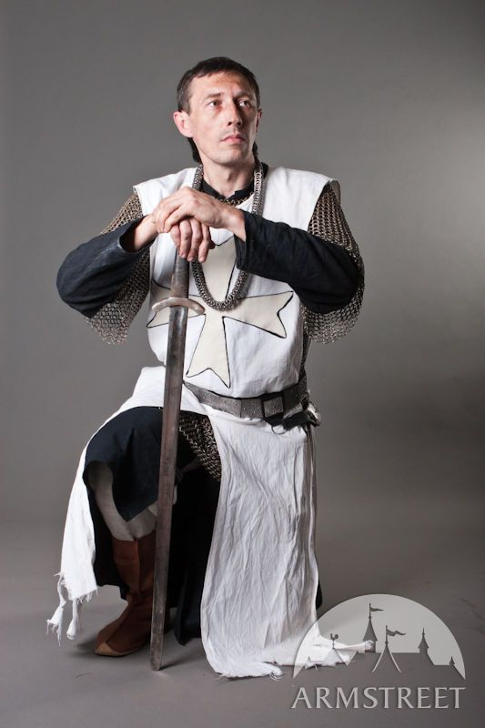 Knight Crusader Templar Medieval tabard with cross