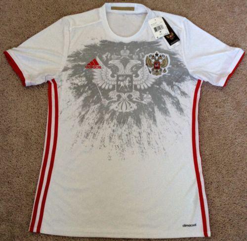 watch 31426 46dc7 Russia National Football Team Jersey Medium Soccer adidas ...