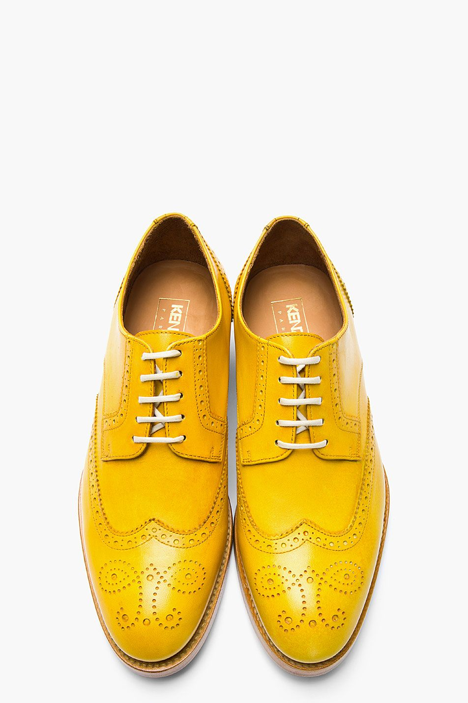 1084fbc25b4 Wingtip mens shoes in bold shade of canary yellow #Brogues #FallFashion