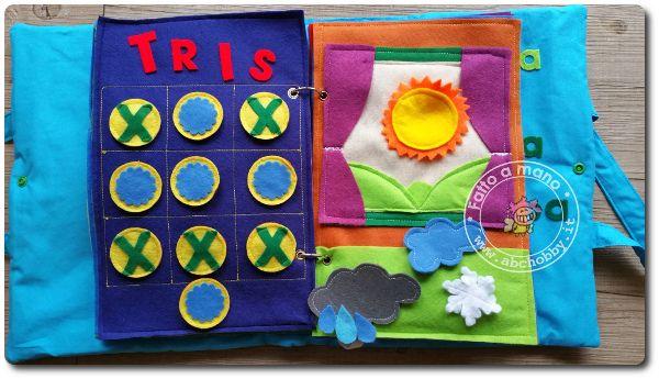 Das bambini ~ Quiet book busy book il libro di stoffa per bambini. pagina tris