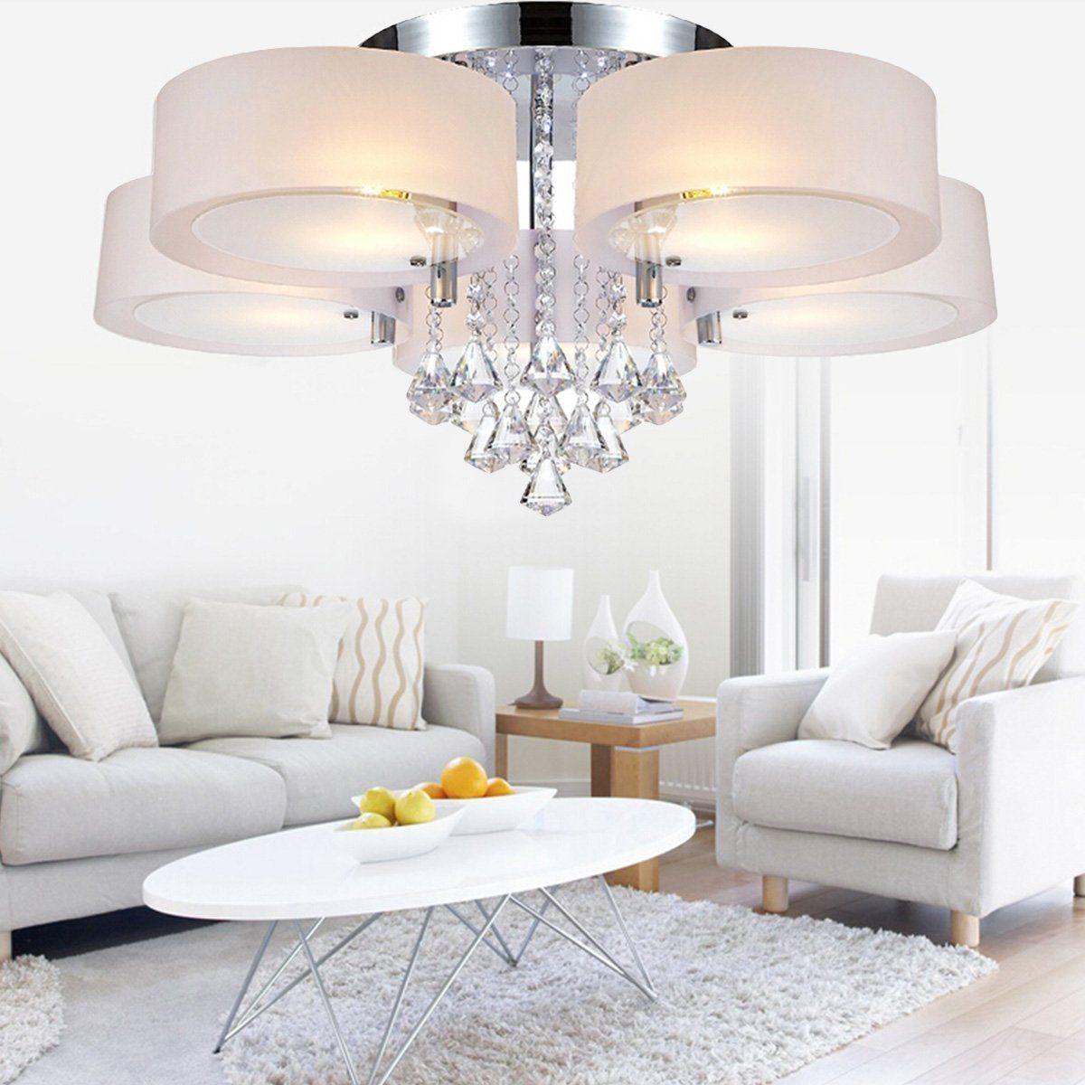 LEDNut Modern Ceiling Light Fixture, 5-Light Chandelier Semi-Flush ...