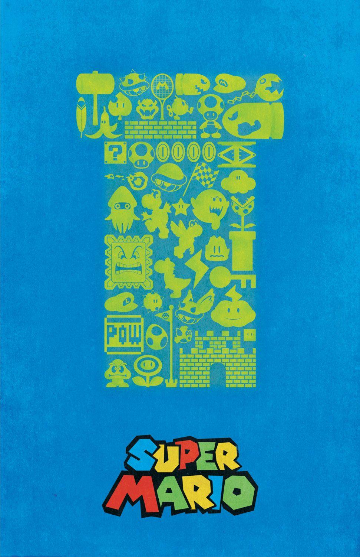 Super Mario Vintage Style Poster Dylan West Figura Fundo Desenhos Posteres Para Quadros