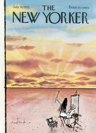 The New Yorker Cover - July 16, 1973 - Ronald Searle