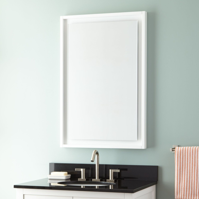 24 Audra Vanity Mirror White 413 95 Bathroom Mirror Design White Bathroom Mirror Black Bathroom Mirrors