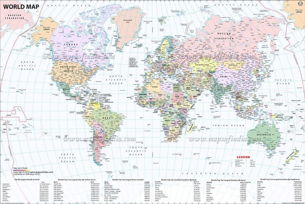 Worldmaplargedetailedphysicalfabricposter20x13 large world map interactive world map gumiabroncs Gallery