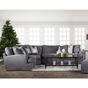 4-Piece Modular Sectional in Alpha Gray (With images ...