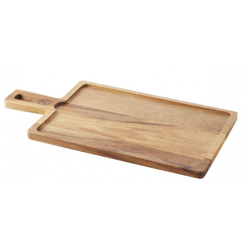 Planche pour plateau 30 x 20 cm Basalt - Acacia - 43 x 23 x 1,5 cm