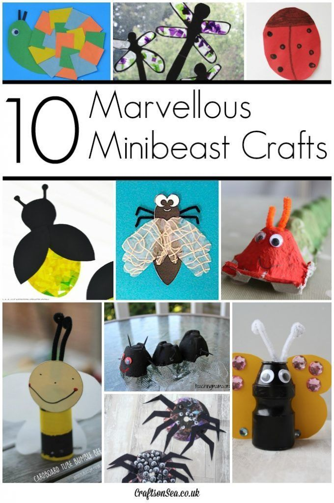 These Fantastic Minibeast Crafts Are Great Fun For Kids To Make Spiders Caterpillars